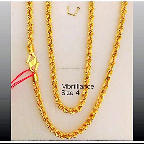 Size 4 rope chain necklace, 916 Gold by mbrilliance