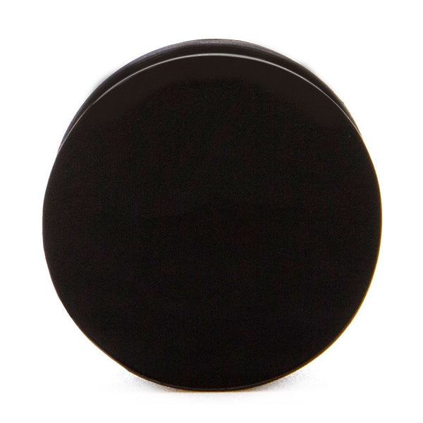 Black Solid Silicone Plug - Custom Flesh Plugs & Gauges, Alternative, Tattoo - Silicone Plugs - 1