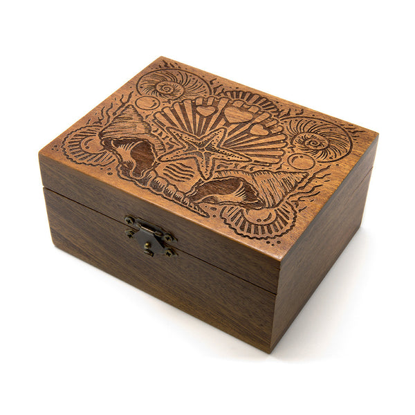 Queen Of The Sea - Wooden Jewellery Box