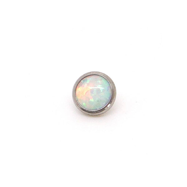 White Opal Dermal Top (Titanium) - Custom Flesh Plugs & Gauges, Alternative, Tattoo - Dermal Top - 1