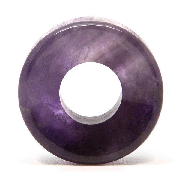 Amethyst Stone Tunnel - Custom Flesh Plugs & Gauges, Alternative, Tattoo - Stone Plugs - 1