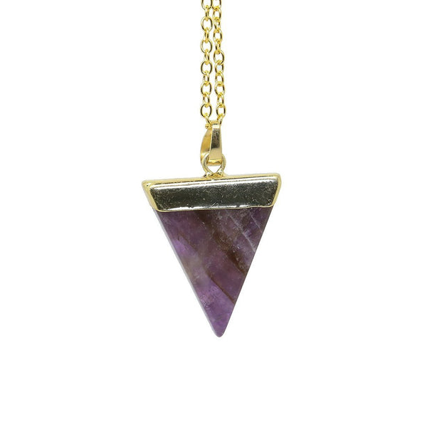 Amethyst Triangle Necklace - Custom Flesh Plugs & Gauges, Alternative, Tattoo - Accessories - 1