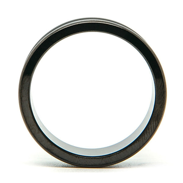 Black Steel Screwback Tunnel - Custom Flesh Plugs & Gauges, Alternative, Tattoo - Steel Plugs - 1