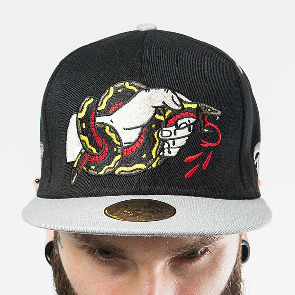 Join Or Die Snapback - Custom Flesh Plugs & Gauges, Alternative, Tattoo - Snapbacks - 1