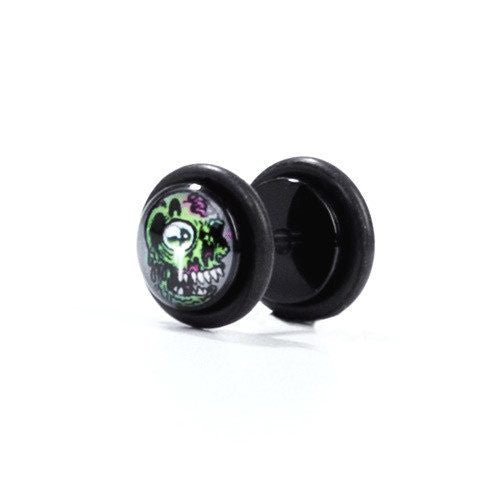 Zombie One - Fake Plug - Custom Flesh Plugs & Gauges, Alternative, Tattoo - Fake Plugs - 1