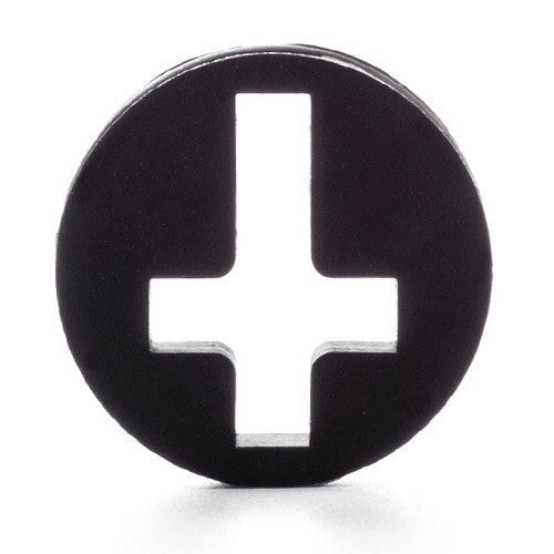 Silicone Cross Plug - Custom Flesh Plugs & Gauges, Alternative, Tattoo - Silicone Plugs - 1