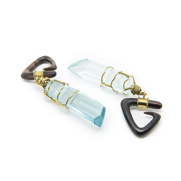 Aqua Prism Ear Weight (Pair)