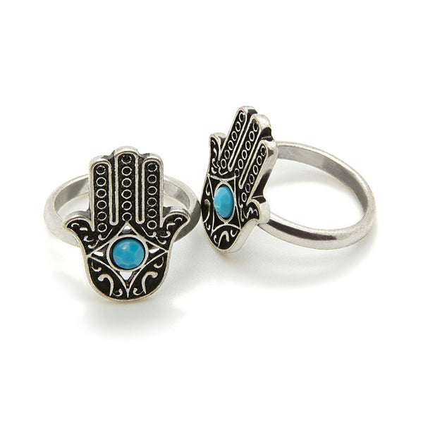 Hamsa Ring - Custom Flesh Plugs & Gauges, Alternative, Tattoo - Jewellery - Ring - 1