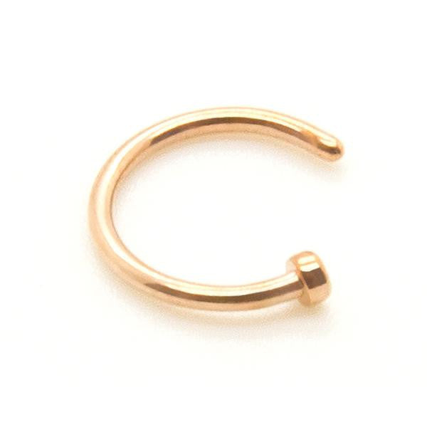 Titanium - Rose Gold Nose Hoop - Custom Flesh Plugs & Gauges, Alternative, Tattoo - Rings