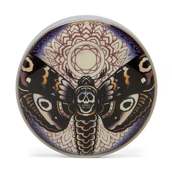 Death Moth - Plug - Custom Flesh Plugs & Gauges, Alternative, Tattoo - Acrylic Plugs - 2