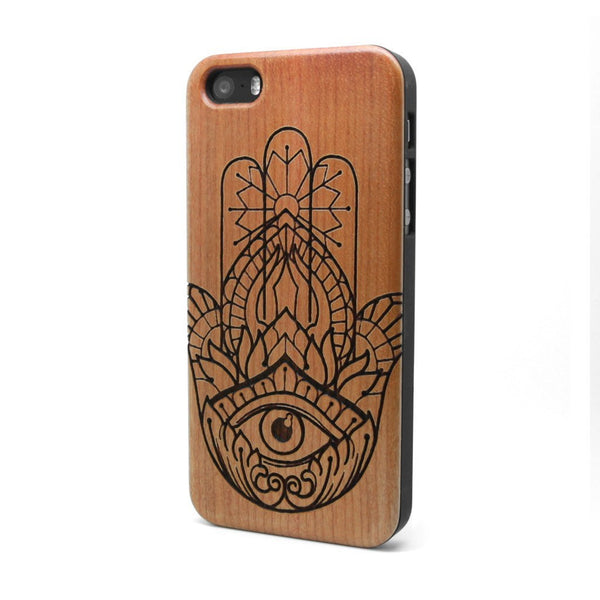 Hamsa - iPhone Case - Custom Flesh Plugs & Gauges, Alternative, Tattoo - Phone Cases - 1