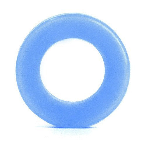 Light Blue Silicone Tunnel - Custom Flesh Plugs & Gauges, Alternative, Tattoo - Silicone Plugs - 1