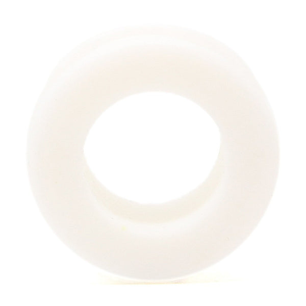 White Silicone Tunnel - Custom Flesh Plugs & Gauges, Alternative, Tattoo - Silicone Plugs - 1