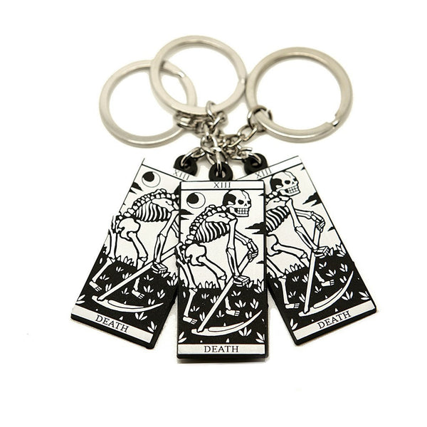 Death Tarot Keyring - Custom Flesh Plugs & Gauges, Alternative, Tattoo - Keyring - 1