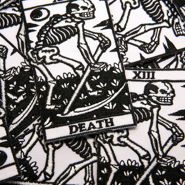 Death Tarot Patch - Custom Flesh Plugs & Gauges, Alternative, Tattoo - Patch - 1