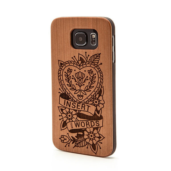 Insert Your Words Heart Case -  Samsung Galaxy Case - Custom Flesh Plugs & Gauges, Alternative, Tattoo - Phone Cases - 1