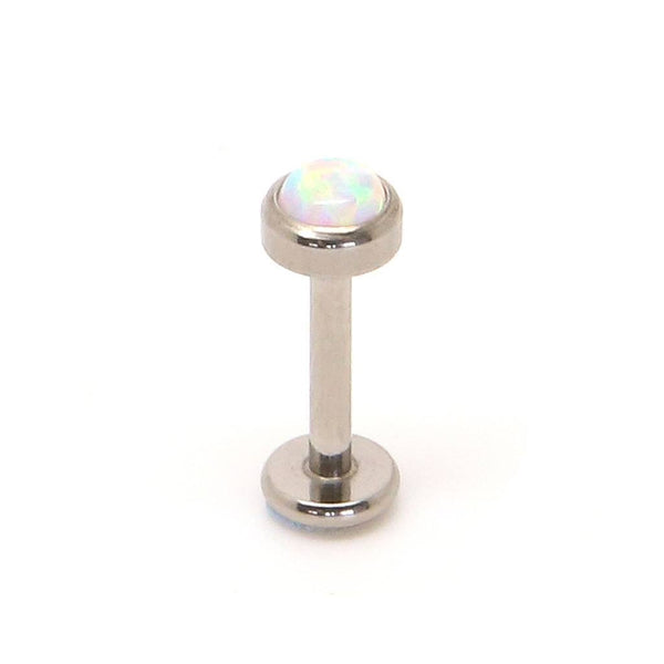 White Opal Labret (Titanium) - Custom Flesh Plugs & Gauges, Alternative, Tattoo - Labrets - 1