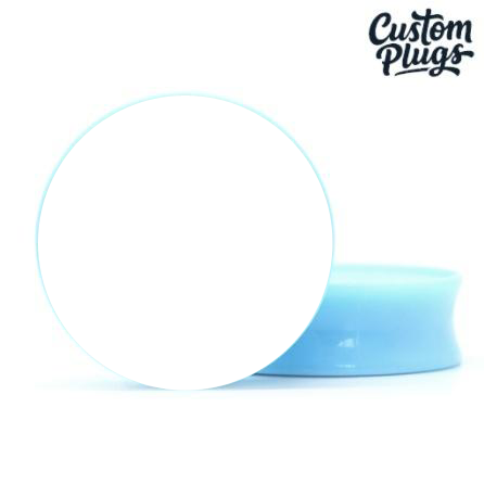 Blue Doubleflare - Custom Flesh Plugs & Gauges, Alternative, Tattoo - Generator - 1