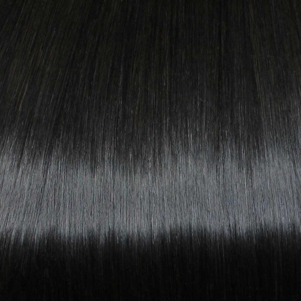 Flixy hair extensions - Warm Black - 12""