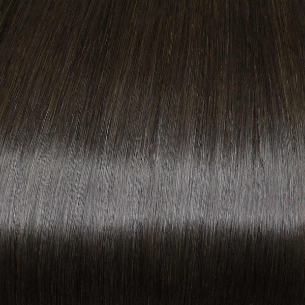 Flixy hair extensions - Espresso Brown - 20""