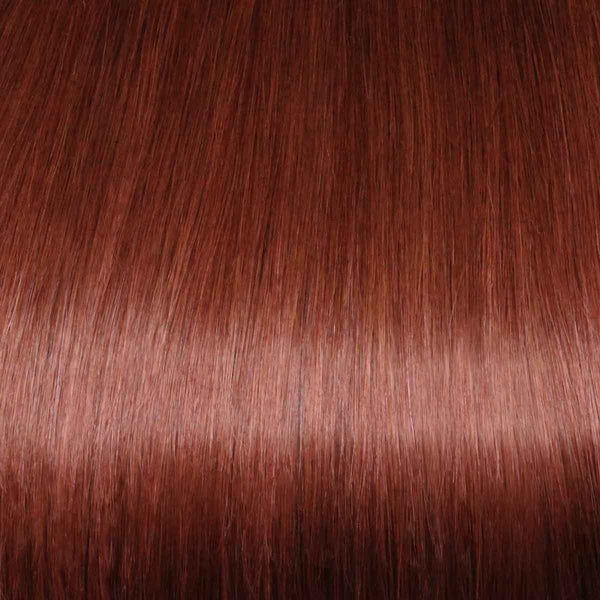 Flixy hair extensions - Vibrant Red - 16""