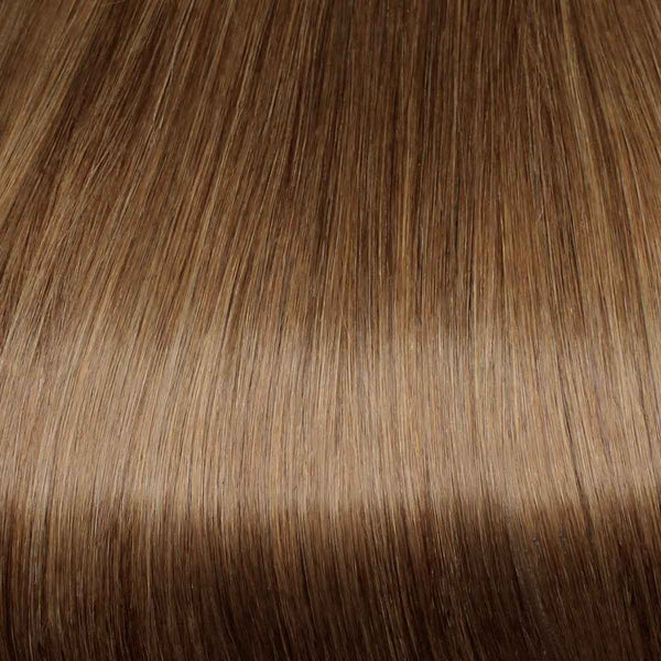 Flixy hair extensions - Chestnut Brown - 12""