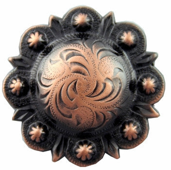 Copper Round Berry Concho