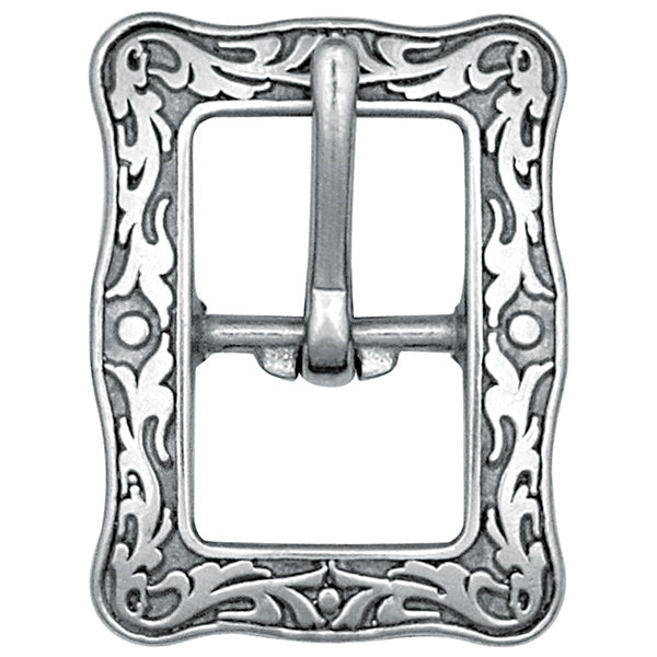 Jeremiah Watt Engraved Floral Buckle, 3/4""