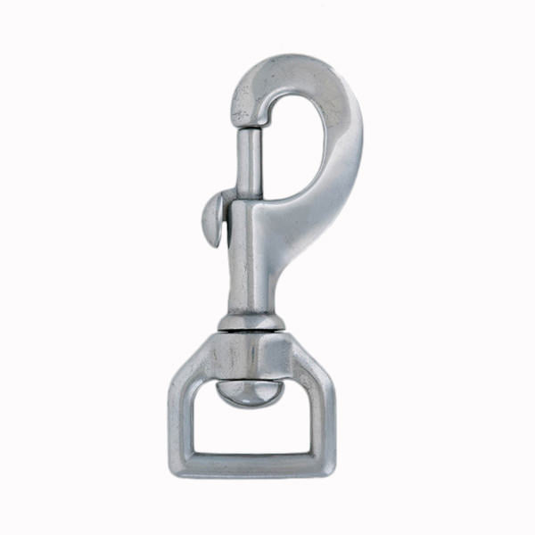 Flat Swivel Snap Stainless Steel, 1""
