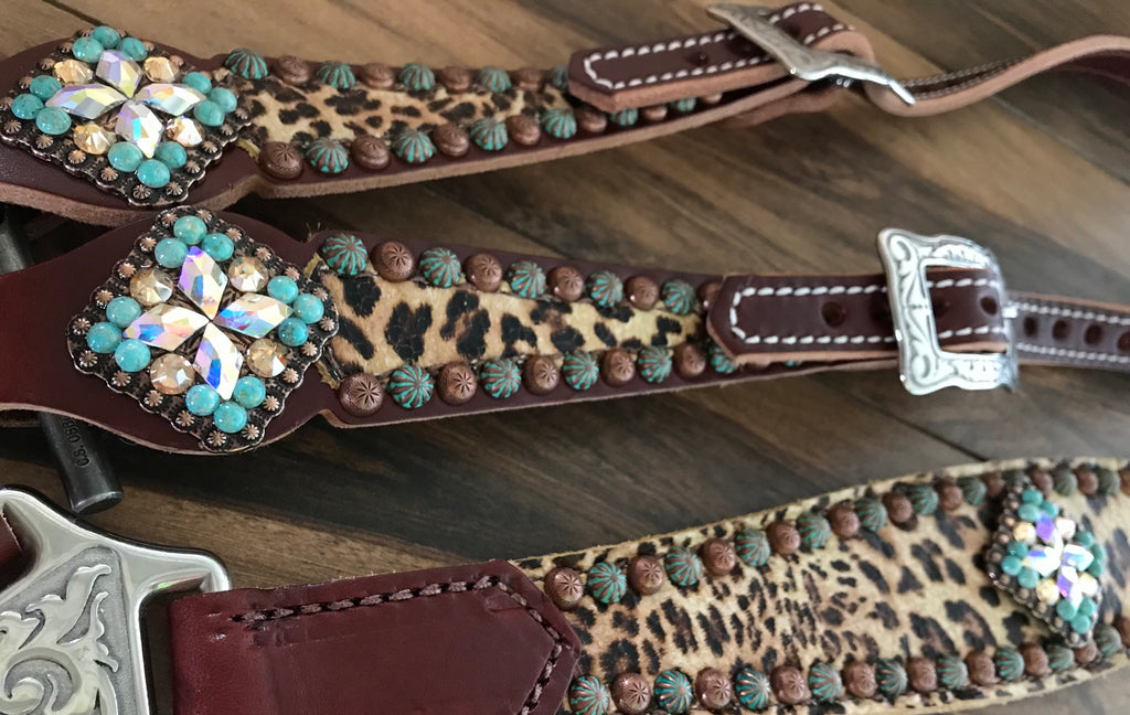 Single Layer Cheetah with Turquoise