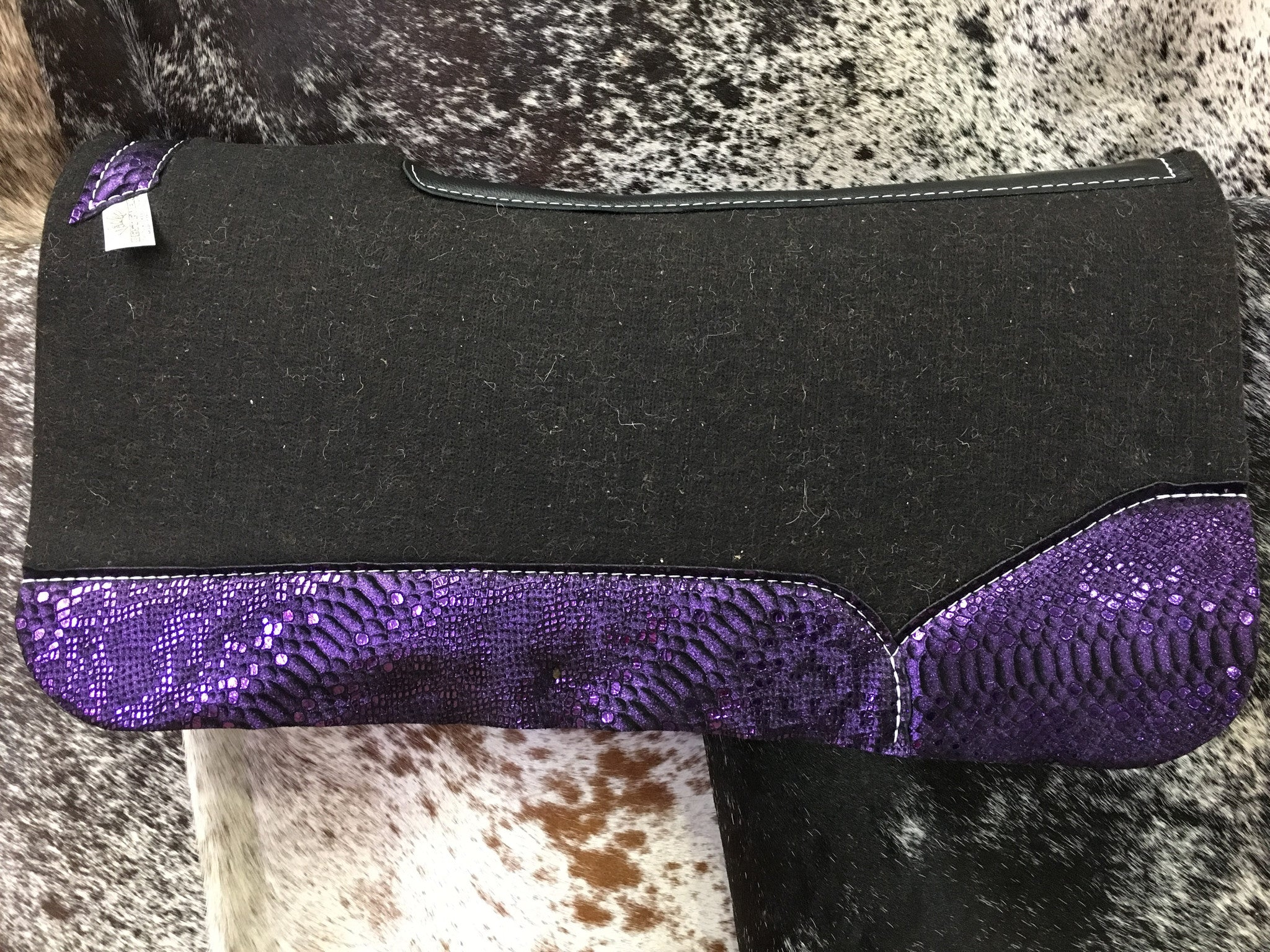 Best ever saddle pad with purple mystic wear leathers