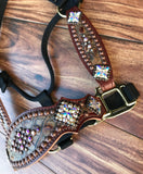 Copper frosted halter w/cheeks
