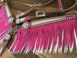 Pink and Ice double layered fringe Tack