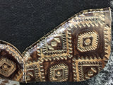 Best ever Saddle pad with brown/tan Aztec wear leathers