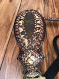 Cheetah and Louis Vuitton halter