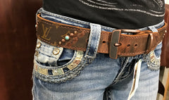 Repurposed Louis Vuitton Western Belt