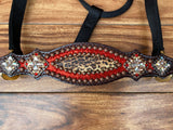 Red ice and cheetah halter