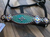 Turquoise Gold Frosted Gator Halter