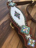 White Gator halter with patina spots