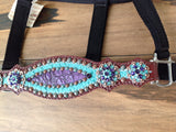 Teal and Purple Gator Halter.