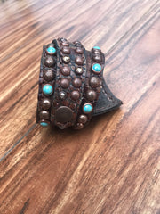 Brown Gator leather Cuff