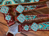 Turquoise tooled with AB