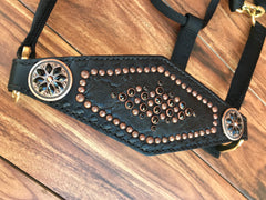 Black Elephant With Copper Halter