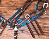 Blue Mystic with Copper Knot conchos.