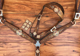 Brown Gator with Cross Conchos