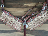 Red/ Rose Gold Mystic Set W/ Double Layered Fringe