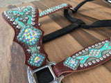 Turquoise Tooled W/ Cheeks