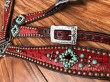 Red gator with turquoise rocks