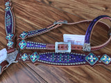 Purple mystic with turquoise rim sets