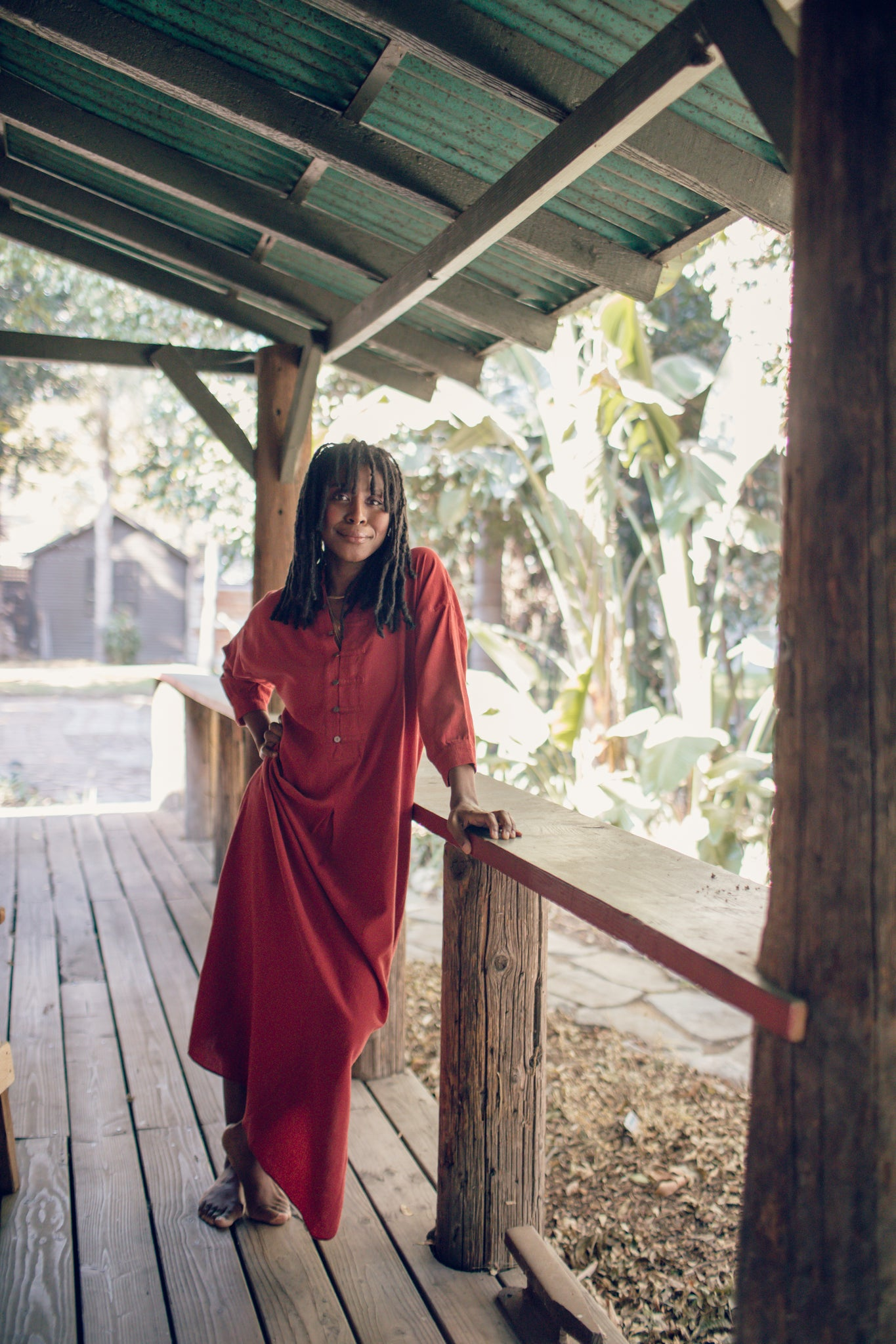 Ruby Red Kaftan Lounge Dress